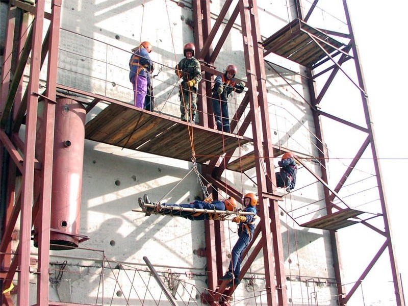 The industrial rope access training ground